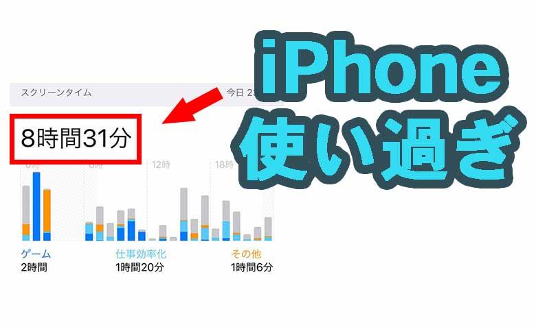 使い過ぎに注意!iPhoneの使用時間がわかるスクリーンタイム
